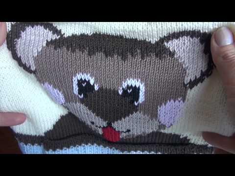 Motivpullover für Babys stricken