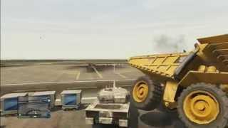 GTA5 Tank vs DumpTruck vs Bulldozer