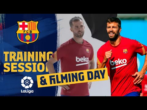 ???? LIGHTS! CAMERA! ACTION! Shooting day & training for Barça!