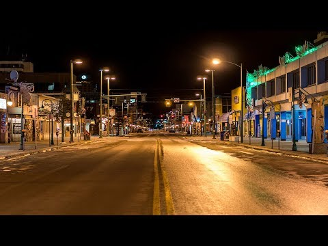 Night in Downtown Anchorage, Alaska |  4K
