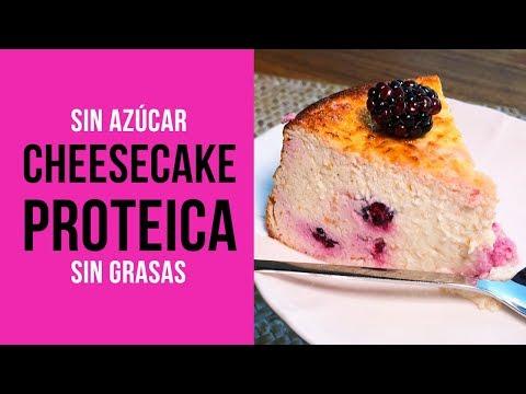 Cheesecake Proteica sin Azúcar y con Sucralín