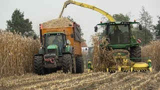 Loonbedrijf Kuipers aan het mais hakselen met hun nieuwe John Deere 8200 (2017)