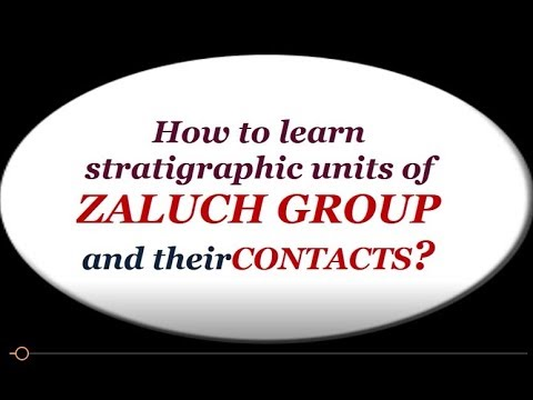 How to learn stratigraphic units of zaluch group and their c