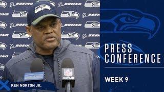 Seahawks Defensive Coordinator Ken Norton Jr. Week 9 Press Conference