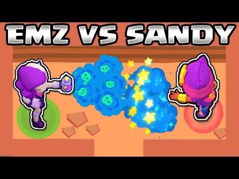 EMZ VS SANDY | 1 VS 1 | BRAWL STARS | NUEVO BRAWLER