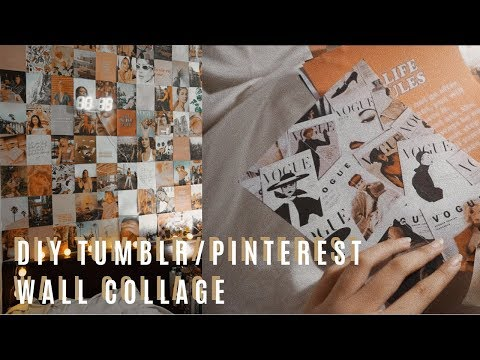 DIY tumblr/pinterest wall collage