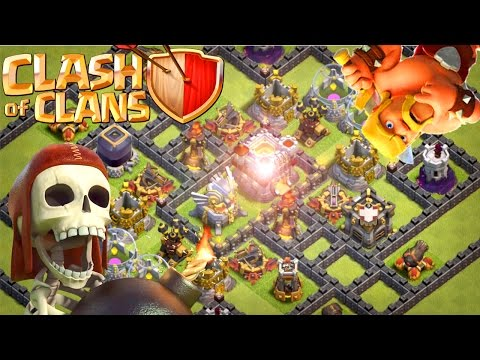 Clash Of Clans | EPIC New Town Hall 11 (Th11) Trophy Base [2017] - Hard To Reach Infernos