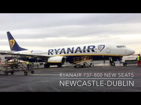 TRIP REPORT   Ryanair NEW SEATS   737-800   Newcastle-Dublin   Economy   HD