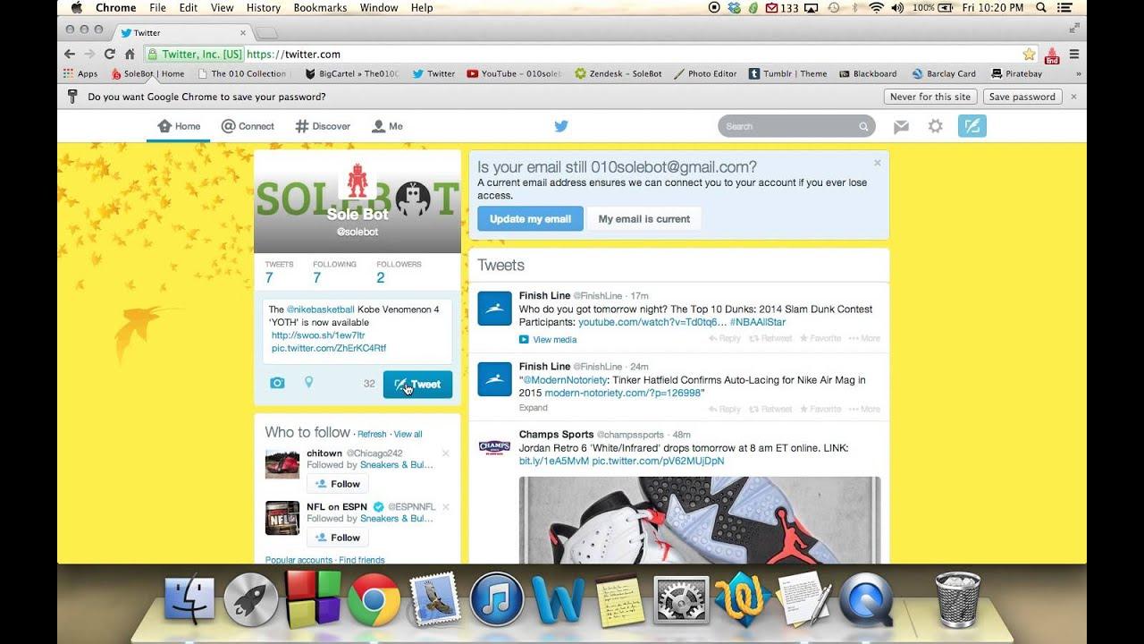 603872a6fca650 Nike + Twitter Bot - Nike.com AddToCart + Twitter API BOT SoleBot ...