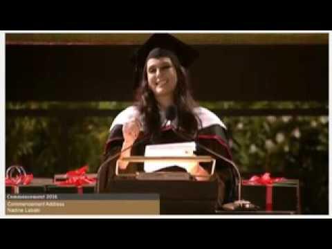 Nadine Labaki's speech at AUB graduation ceremony