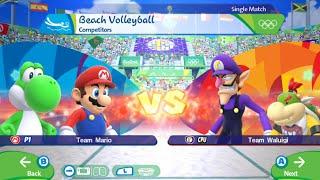 "Mario Sonic Rio 2016 Olympic Games""Boxing,Tennis,Volleyball,Javelin, Nintendo Wii U Gameplay Video"