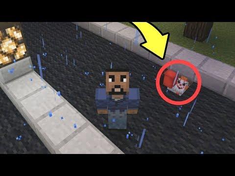 """WE FOUND """"IT """" CLOWN  in MINECRAFT! (Minecraft Addon)"""