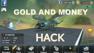 GUNSHIP BATTLE GOLD AND MONEY HACK 2016 (2.5.01) WITHOUT ROOT