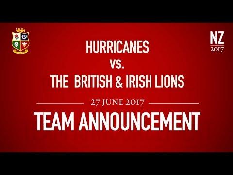 Team Announcement: Hurricanes v The British & Irish Lions