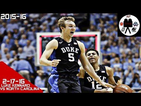 Luke Kennard Full Highlights vs North Carolina (2-17-16) 15 Points