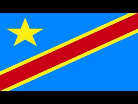 Bandera e Himno de República Democrática del Congo - Flag of Democratic Republic of The Congo