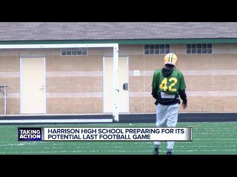 Farmington Hills Harrison football a game away from ending as school is closing