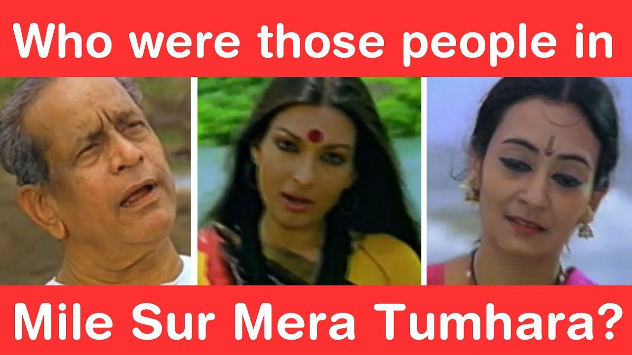 Who were the people in Mile Sur Mera Tumhara?
