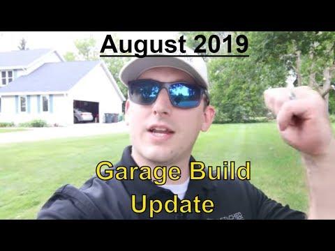 August '19 Garage Build Update // Detached Garage // Giveaway