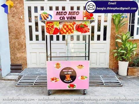 Thiết kế tủ sắt bán cá viên chiên lưu động giá rẻ tại Sài Gòn