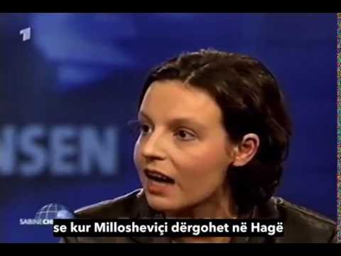 Donika Gërvalla kundër Millosheviçit TV ARD Sabine Christiansen 2000