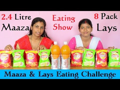 8 Pack Lays & 2.4 Litre Maaza Challenge | Food Eating Competition | Eating Show India