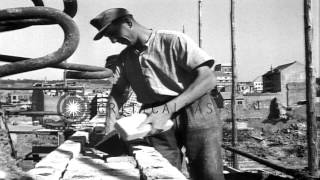 German Workers Lay Bricks At A Construction Site In Pforzheim, Germany After Worl...hd Stock Footage