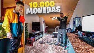 LE METO +10.000 MONEDAS EN SU HABITACIÓN A SHOOTER Y ESTA FUE SU REACCIÓN [Salva]