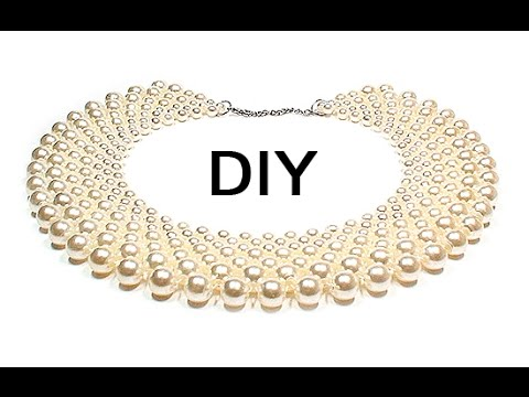 9c535a4ef47aa8 DIY: Beaded collar ❤ How to make jewelry [ENG] - YouTube