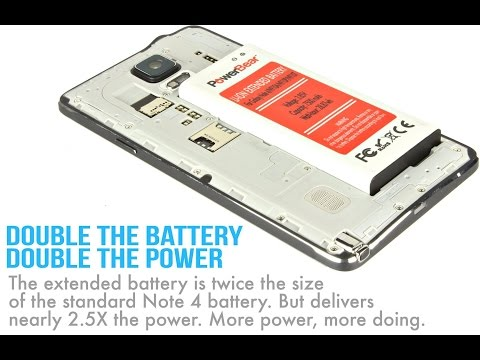 low priced ad124 3a2cf PowerBear® Samsung Galaxy Note 4 - 7500mAh Extended Battery Review ...