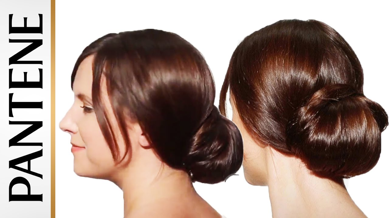 Hairstyles For Long Hair Chignon Bun Updo Pantene Youtube