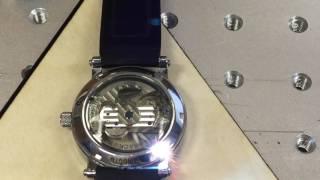 видео Лазерная гравировка на часах