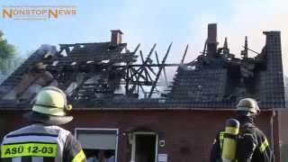 Dachstuhlbrand im Urlaubsort Dangast - Rettung in letzter Sekunde (13.08.2015)