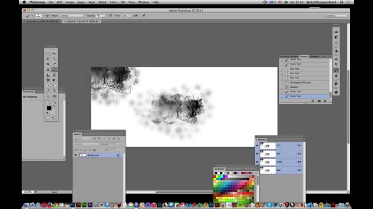 How to add noise grain to brushes in Photoshop tutorial