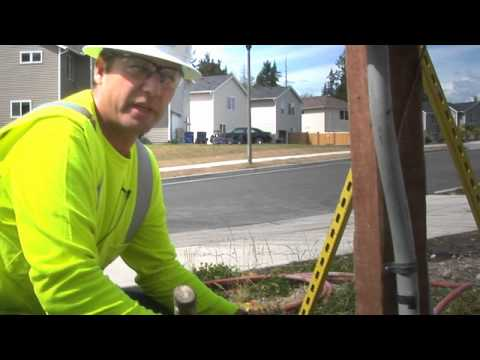 Installing temporary electric service: New home construction
