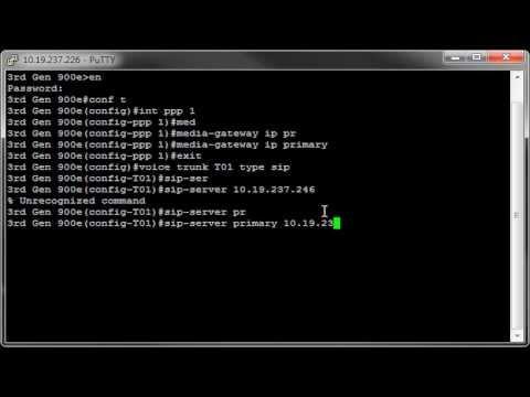 Configuring an ADTRAN Total Access 900e for SIP to PRI
