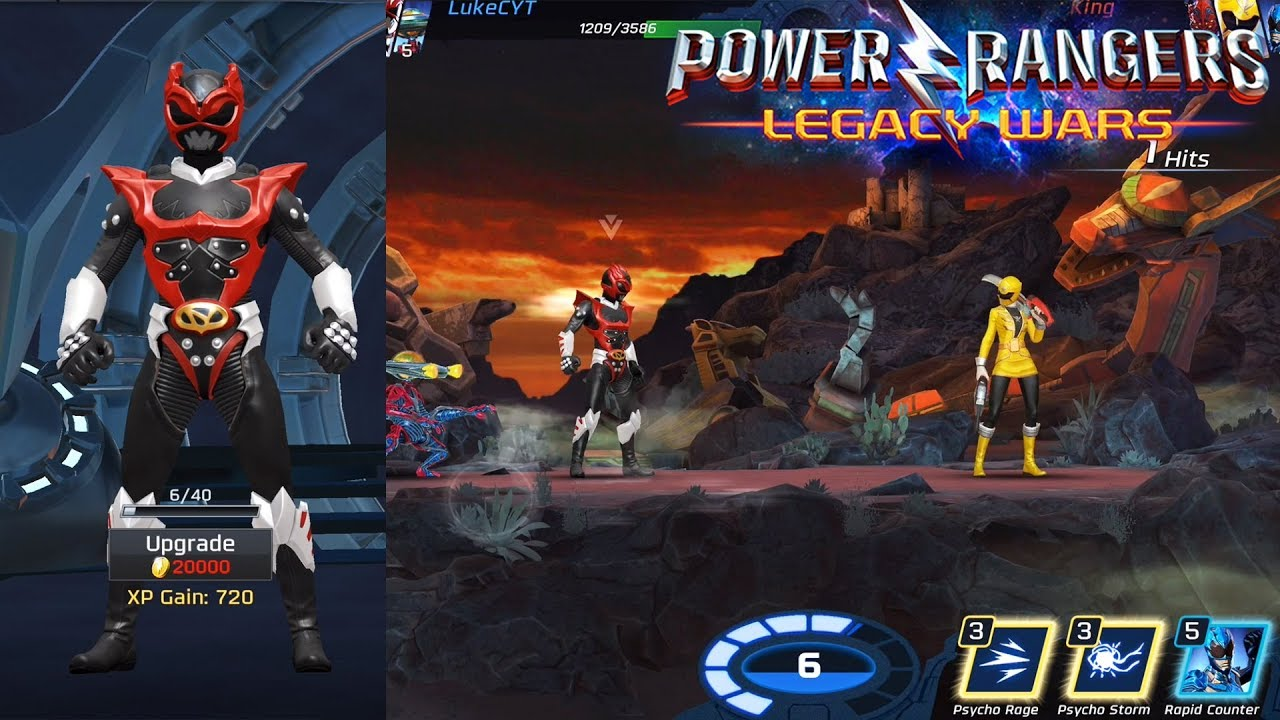 EPIC PSYCHO RED RANK UP + GAMEPLAY - Power Rangers Legacy ...