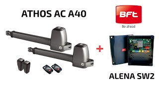 Video: Kit automatizare porti batante BFT ATHOS-AC-A25-230V, 400 Kg/canat, 2.5 m/canat, 230 V