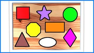 Shapes For Kids | Shapes Nursery Rhymes | Shapes Songs For Kids & Children | Learning & Education