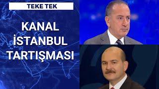 İçişleri Bakanı Süleyman Soylu, Kanal İstanbul ile ilgili tartışmaları Teke Tekte değerlenirdi