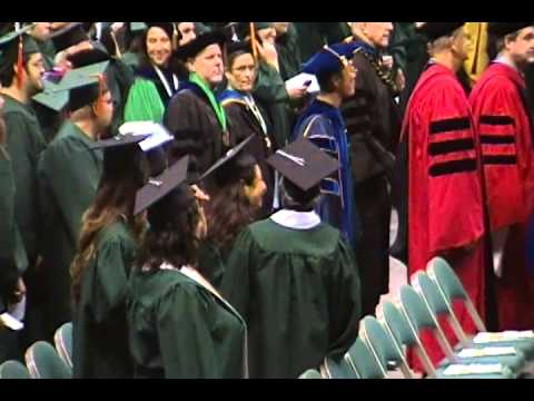 University of Hawaii at Manoa opening graduation walk.