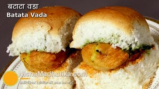 Batata Vada Pav Recipe - How To Make Batata Wada - Aloo vada Pav