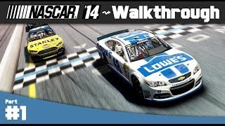 NASCAR 14 Game: Career Mode Walkthrough Part 1 - Daytona 500 (PC Gameplay)