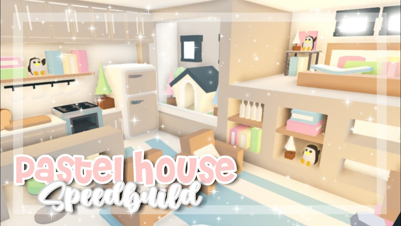 Pastel Tiny House Speedbuild Adopt Me Adopt Me Speedbuild In 2020 Pastel House Cute Room Ideas Cute Bedroom Ideas