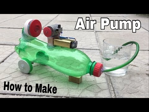 How to Make a Mini Air Compressor (Powerful Air Pump) Using Plastic Bottle - Tutorial
