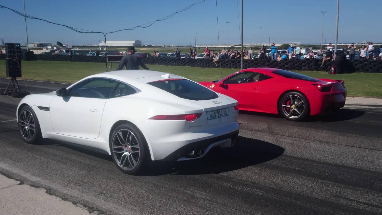 Ferrari 458 Vs Jaguar F Type R Youtube