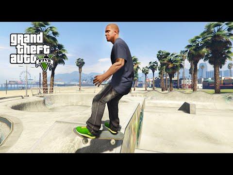 THE SKATEBOARD MOD!! GTA 5 Mods Gameplay