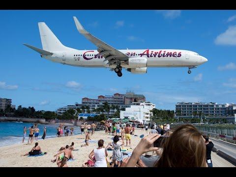 Caribbean Airlines 737 Saint Maarten Landing