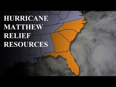 Hurrican Matthew Relief Resources - Links and Organizations that Provide Aid to Hurricane Victims
