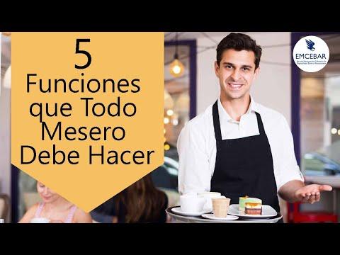 5 Funciones Que Todo Mesero Debe Hacer